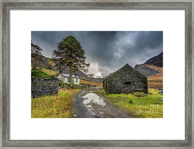 Framed Print featuring the photograph Cwmorthin Slate Ruins by Adrian Evans