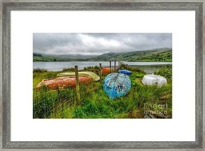 Cwmystradllyn Boats Framed Print by Adrian Evans