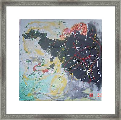 Cx 003 Remarkable Original And Forceful Framed Print by Mojie Wang