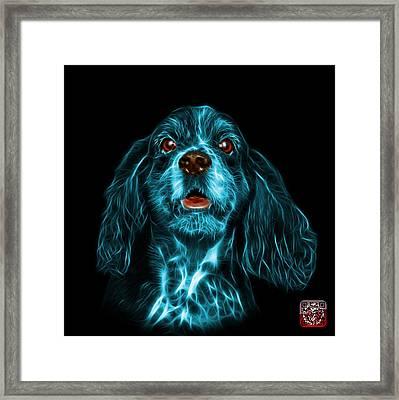Cyan Cocker Spaniel Pop Art - 8249 - Bb Framed Print