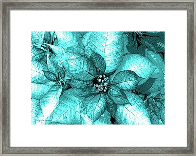 Cyan Shimmer Framed Print by DigiArt Diaries by Vicky B Fuller