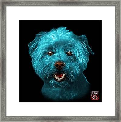 Cyan West Highland Terrier Mix - 8674 - Bb Framed Print