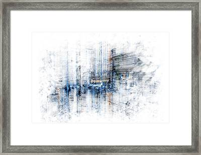 Cyber City Design Framed Print by Martin Capek