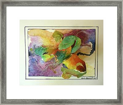 Framed Print featuring the painting Cyber-garden by P Maure Bausch