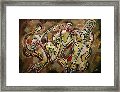 Cyber Jazz Framed Print