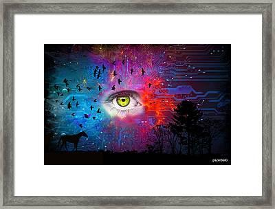 Cyber Nature Framed Print