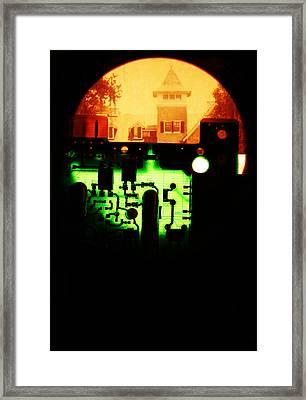Cyber Plantation Framed Print