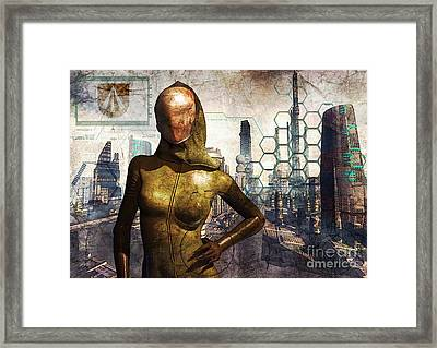 Cyber Queen Framed Print by Luca Oleastri