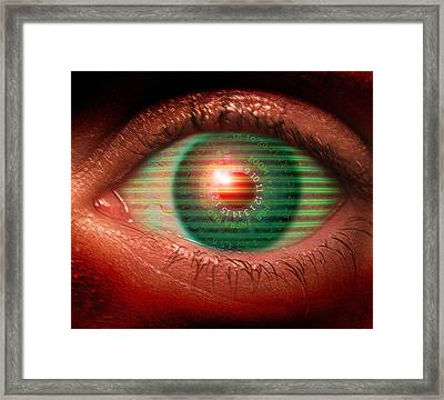 Cybernetic Eye Framed Print by Victor Habbick Visions