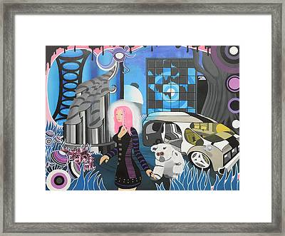 Cyberpunk Aesthetics Number Three Framed Print by Thomas Albany