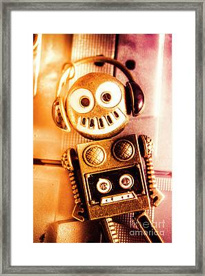 Cyborg Dance Party Framed Print