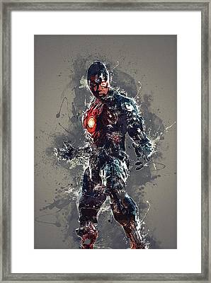 Cyborg Framed Print by Elena Kosvincheva