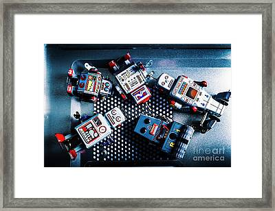 Cyborg Technology Reset Framed Print