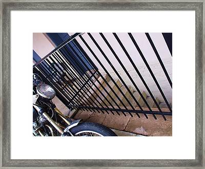 Cycle And Stairs I Framed Print by Anna Villarreal Garbis