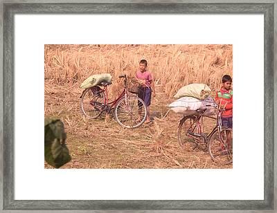 Cycle Boys Framed Print