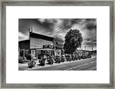 Cycles In Old Forge Framed Print