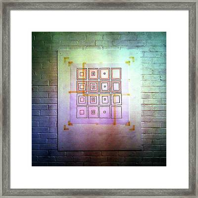 Cyclic Squares - 24 Framed Print
