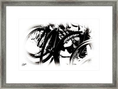 Cycling Art  Framed Print by Steven Digman