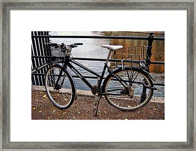 Cycling In Sweden Framed Print by JAMART Photography