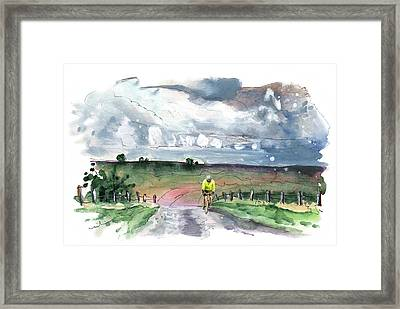 Cycling On The North Yorkshire Moors Framed Print
