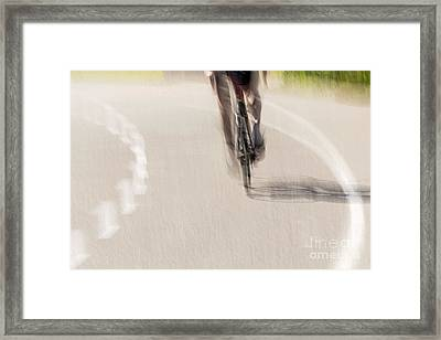 Cycling Framed Print by Kate Brown