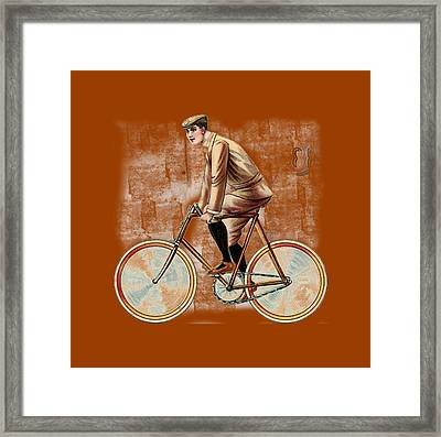 Cycling Man T Shirt Design Framed Print by Bellesouth Studio