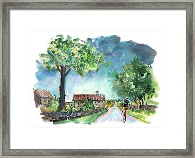 Cycling On The North Yorkshire Moors 02 Framed Print