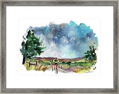Cycling On The North Yorkshire Moors 03 Framed Print
