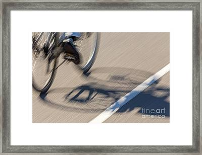 Cycling Two Framed Print by Kate Brown