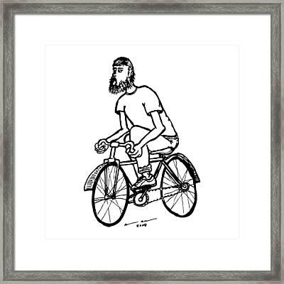 Cyclist - Bike Rider Framed Print by Karl Addison