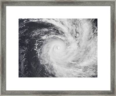 Cyclone Zoe In The South Pacific Ocean Framed Print by Stocktrek Images