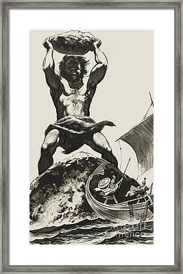 Cyclops Framed Print by Angus McBride