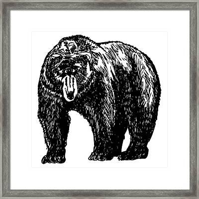 Cyclops Bear Framed Print