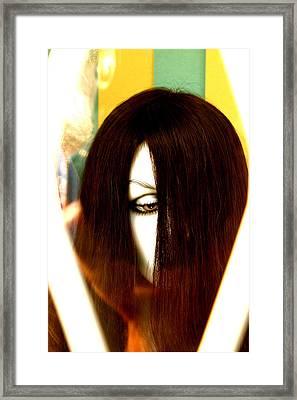 Cyclops Girl Framed Print by Jez C Self