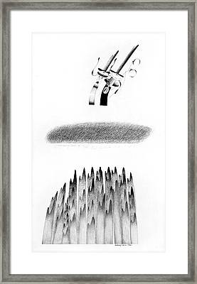 Cycloptic Honeymoon Framed Print by Tony Paine