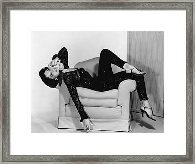 Cyd Charisse, Ca. 1950s Framed Print by Everett