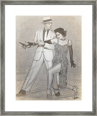 Cyd Charisse - Fred Astaire Drawn Framed Print