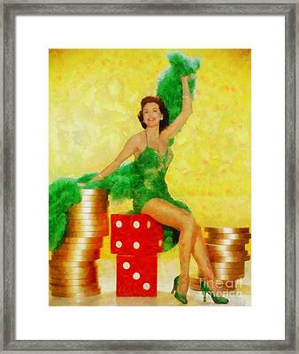 Cyd Charisse, Vintage Hollywood Legend Framed Print