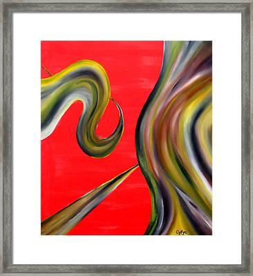 Framed Print featuring the painting Cyfyc by Cyryn Fyrcyd
