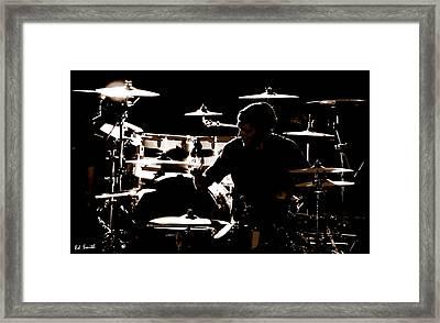 Cymbal-ized Framed Print by Ed Smith
