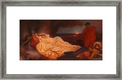 Cymon Looks Down On The Sleeping Iphigenia Framed Print