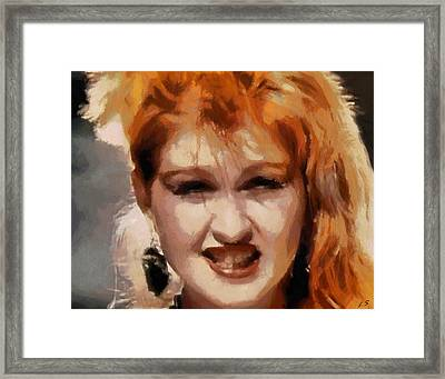 Cyndi Lauper Framed Print