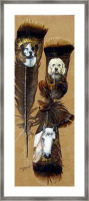 Cynthia's Pets Framed Print by Theresa Jefferson