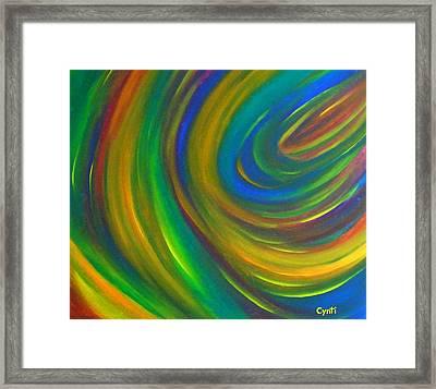 Framed Print featuring the painting Cynti by Cyryn Fyrcyd