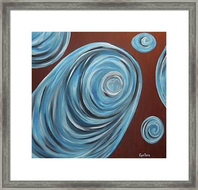 Framed Print featuring the painting Cyntora by Cyryn Fyrcyd