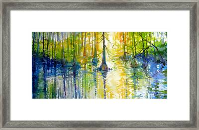 Cypress Bayou Wetlands Framed Print by Marcia Baldwin