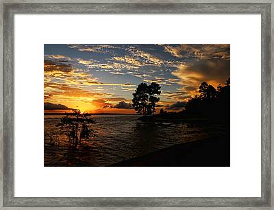 Cypress Bend Resort Sunset Framed Print