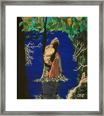 Framed Print featuring the painting Cypress Knee by Carolyn Cable
