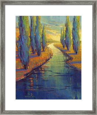 Cypress Reflection Framed Print