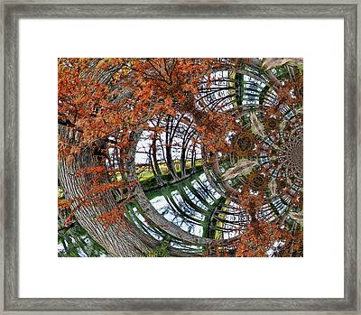 Framed Print featuring the digital art Cypress Reverie by Wendy J St Christopher